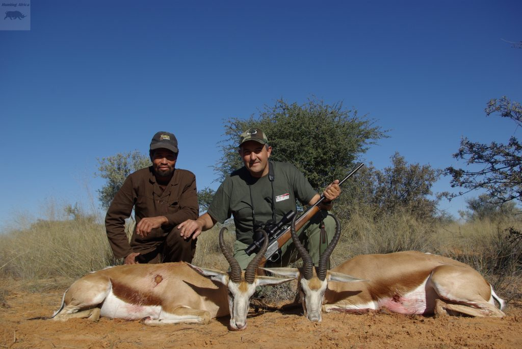 Sr Corujo (Navarra) con dos springboks comunes
