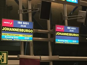Vuelo a Johannesburgo