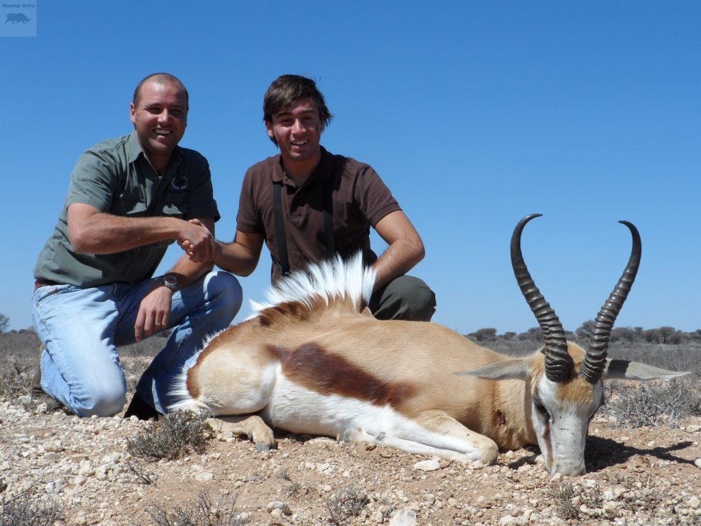 Sr Garcia de la Peña con un gran Springbok Kalahari